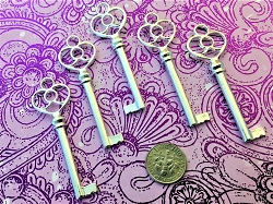 25 Large Vintage Antique Reproduction Wedding Invitation Keys New Bulk Skeleton Heart Marriage Save-the-Date Escort Seat Place Guest Marker